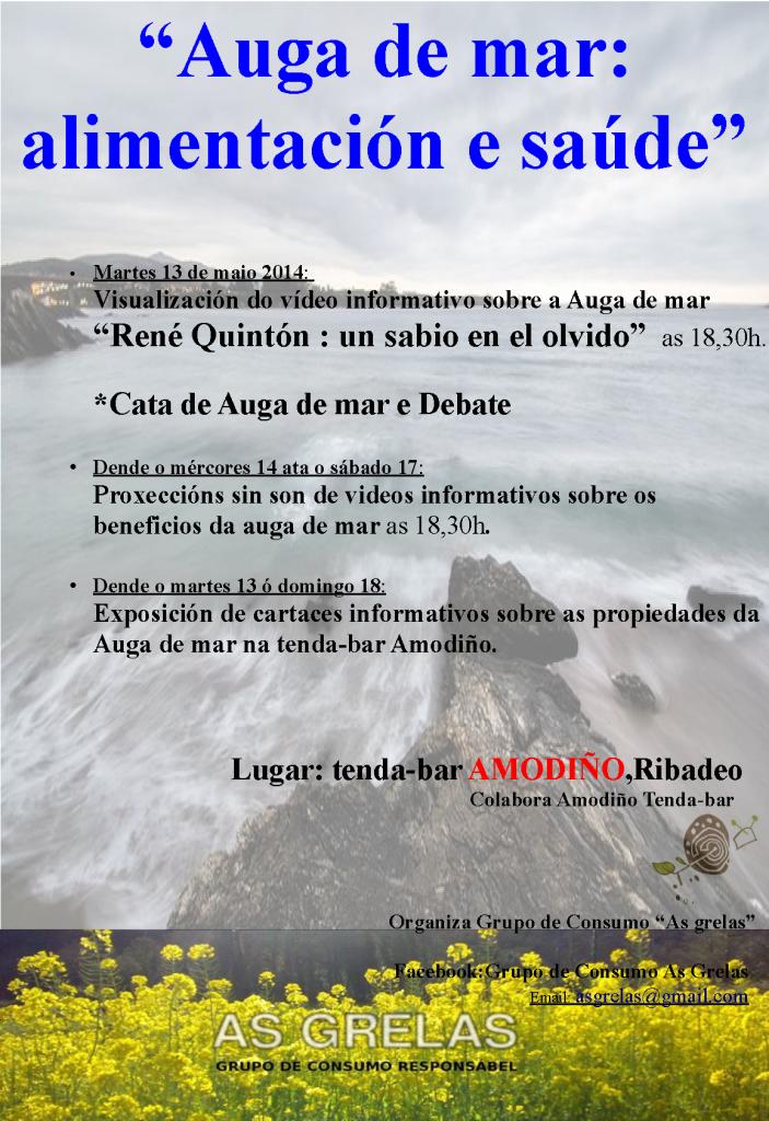 cartaz auga de mar alimentación e saúde